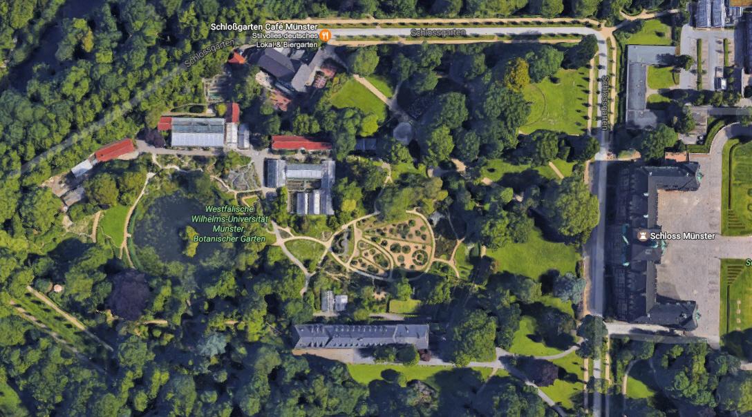 Garten Münster schloss münster botanischer garten virtuelle tour erstellt durch